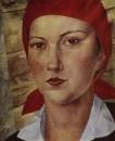 Девушка в красном платке (Работница). 1925