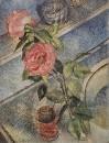 Натюрморт с розами. 1922