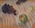 Натюрморт. Виноград и яблоки. 1921