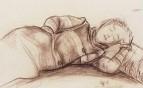 Спящая женщина. 1913