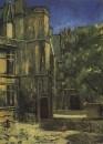 Вид музея Клюни в Париже. 1908