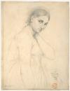 1814 (ок) Этюд для Рафаэль и Форнарина (25.4 х 19.7 см) (карандаш) (Нью-Йорк, Метрополитен)