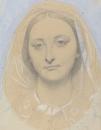1857.Мария де Бордерио (вероятно) (35.2 х 27.1 см и 51.4 х 42.9 см) (карандаш и акварель) (Вашингтон