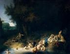 Купание Дианы с нимфами история Актеона и Калисто