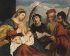 Мария с младенцем, святым Стефаном, святым Иеронимом и святым Маурицием