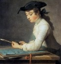 Юный рисовальщик, 1737 Музей Лувр, Париж
