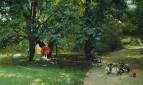 В парке. Около 1881