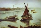Grey and Silver: Old Battersea Beach. 1863