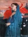 71_Молодая женщина с Ибисом (1860-1862) (100 х 74.9) (Нью-Йорк, Метрополитен)