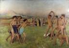 Спартанские девушки вызывают на состязание спартанских мальчиков
