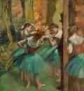 Танцовщицы в розовом и зелёном (ок.1890)