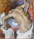 Женщина за туалетом