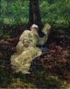 Лев Николаевич Толстой на отдыхе в лесу. 1891
