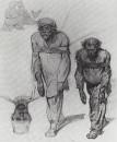 Бурлаки, тянущие лямку. 1870