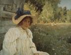 Летом (Портрет О.Ф.Серовой). 1895