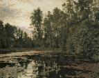 Заросший пруд. Домотканово. 1888
