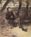 А.С.Пушкин на садовой скамье. 1899