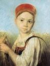 Крестьянская девушка с серпом во ржи, ГРМ