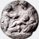 Мадонна Таддеи. Мрамор. Ок. 1502—1504. Лондон, Королевская академия искусств.
