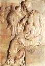 Мадонна у лестницы. Мрамор. Ок. 1491. Флоренция, Музей Буонарроти.