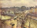 Новый мост под дождём. Париж. Холст, масло, 1935 г.1