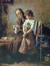 Бабушка с внучкой. 1879 Холст, масло. Львов
