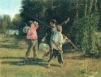 Птичьи враги. 1887 Холст, масло. ГРМ