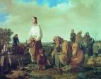Поминки на кладбище. 1865 Холст, масло. 63x83 ГРМ