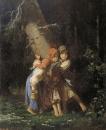Крестьянские девочки в лесу. 1878 Холст, масло. 43х36 Пермь