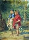 Крестьянские дети. Холст, масло. Козьмодемьянск