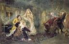 Сцена из истории Стрелецкого Бунта. Иван Нарышкин попадает в руки мятежников.