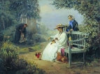 Похороны собаки. 1871 Холст, масло. Витебск