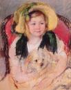 Сара со своей собачкой