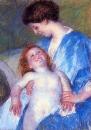 Дитя улыбается своей матери