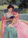 Августа, читающая своей дочери