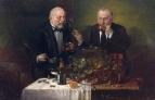 «Дегустаторы» 1860-е Дерево, масло 23 х 35,3 см.