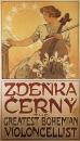 Афиша для концерта Зденки Черны 1913