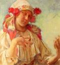 Портрет юной девушки в моравском костюме 1908