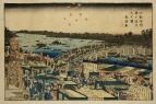 Вид фейерыерков на мосту Рёгоку 1779-1793