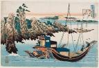 Отомо-но Якамоти (Otomo no Yakamochi или Chunagon Yakamochi) (716-785). Китайские лодки_258х382 мм