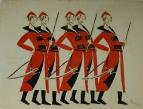 Стрельцы. Эскиз костюмов к опере М.И.Глинки «Жизнь за царя (Иван Сусанин)»