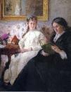 Портрет матери и сестры