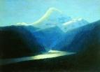 Эльбрус вечером. 1898-1908