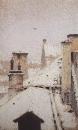 Крыши. Зима. 1876