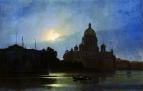 Вид Исаакиевского собора при лунном освещении. 1869