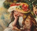 Две девушки, читающие в саду