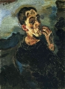 Автопортрет с рукой у лица