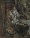 Дама в лиловом. Портрет артистки Н.И. Забелы-Врубель. 1904.