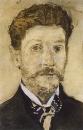 Автопортрет. 1904-1905. Бумага , карандаш, акварель. ГТГ