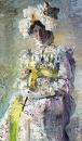Портрет артистки Н.И.Забелы-Врубель, жены художника. 1898. Холст, масло. 124x75,7 см. ГТГ
